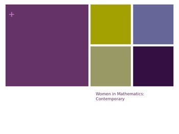 Women in Mathematics: Women in STEM fields
