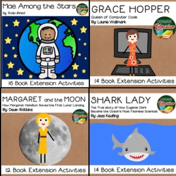 Women in Science Bundle 4 Picture Books 56 Extension Activities NO PREP