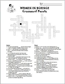 Women in Science - Crossword {Editable}