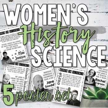 Women in Science Poster Set