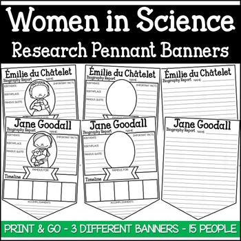 Women in Science Research Pennant Banner Project (Women's History)