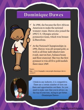 Women in Sports Biography Poster - Dominique Dawes