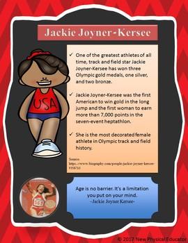 Women in Sports Biography Poster - Jackie Joyner-Kersee