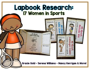 Women in Sports Reports - 17 Lapbooks Research & Informational Writing
