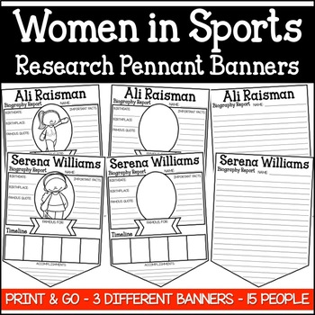 Women in Sports Research Pennant Banner Project (Women's History)