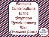 Women in the American Revolution Crossword Puzzle -FREE