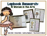 Women in the Arts Reports - 15 Lapbooks Research & Informational Writing