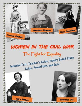 Women in the Civil War mini-unit, including text