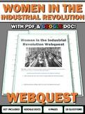 Women in the Industrial Revolution - Webquest with Key (Google Doc Included)