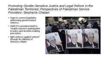 Women in the Palestinian Territories Powerpoint