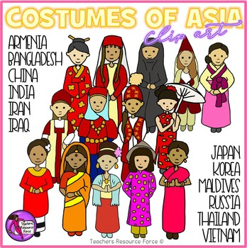 Asian costumes Clip Art