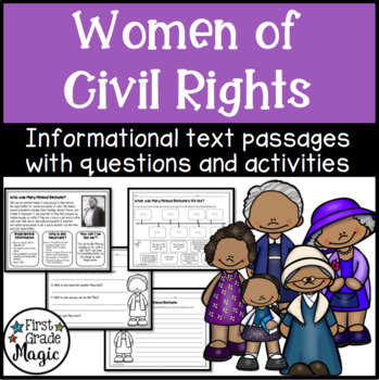 Women of Civil Rights Comprehension Passages for Black History Month