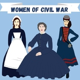 Women of Civil War Clip-art: Vivandiere, Nurse, Clara Barton
