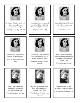 Women of History: Listening Comprehension