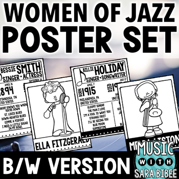 Women of Jazz - Posters and Handouts {B/W Version}