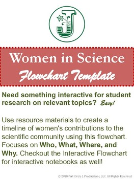 Women of Science, Journal and Flowchart Template (Hard Copy)