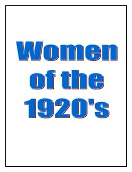 Women of the 1920's