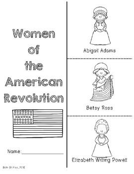 Women of the American Revolution Foldable