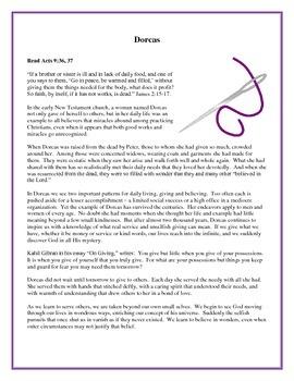 Women of the Bible, Activities and Handouts