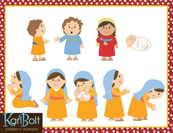 Women of the Bible Clip Art