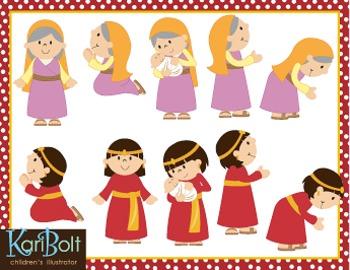 Women of the Bible Clip Art
