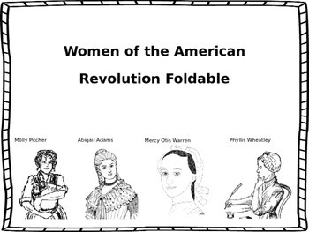 Women of the Revolution Foldable