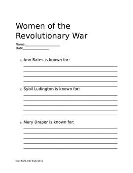 Women of the Revolutionary War