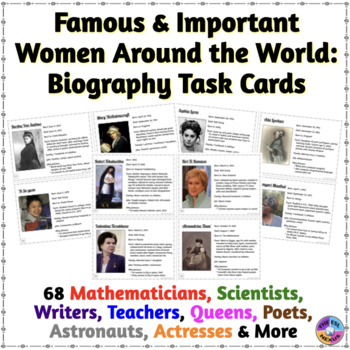 Women Around the World: Biography Task Cards with Activity Ideas