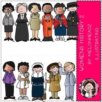 Women's History 2 clip art - COMBO PACK- by Melonheadz