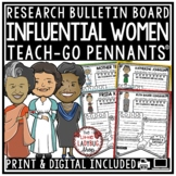 Digital Women's History Month Bulletin Board Biography Template Research Project