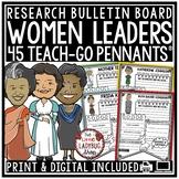Digital Women's History Month Bulletin Board Biography Tem