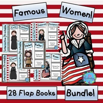 Women's History Month Flap Books and Fast Facts Graphic Or