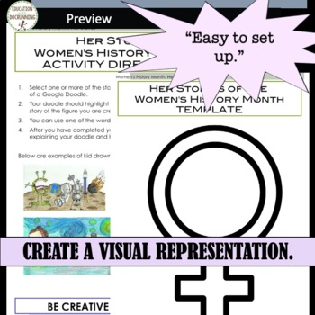 Women's History 8 Stories of Interesting Women and Activity for Centers