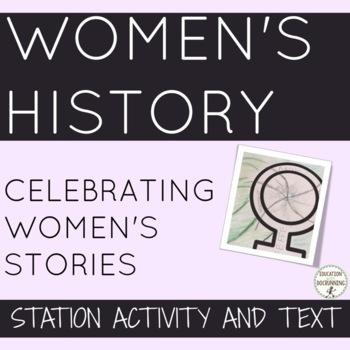 Women's History 8 Stories of Interesting Women Activity UPDATED