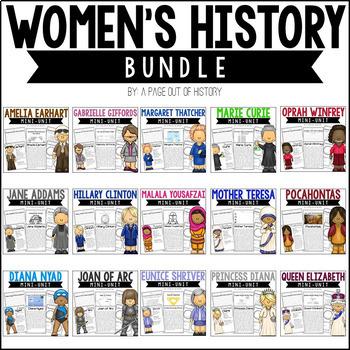 Women's History Biography Pack BUNDLE