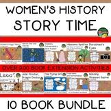 Women's History Biography 10 Book Bundle  Over 200 Extension Activities NO PREP