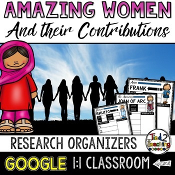 Women's History Biography Report & Informational Writing: Google Classroom