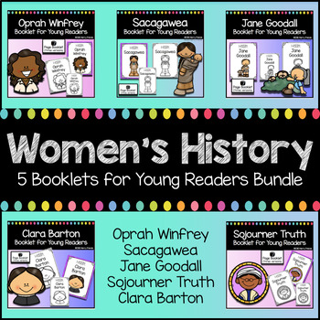 Women's History Booklets for Emergent Readers Jane Goodall Sacagawea