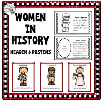 Women's History Bundle - Reader & Posters (Women's History Cut & Paste Booklet)