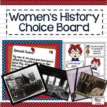 Women's History Choice Board
