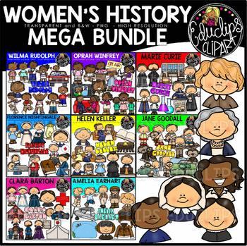 Women's History Clip Art Mega Bundle {Educlips Clipart}