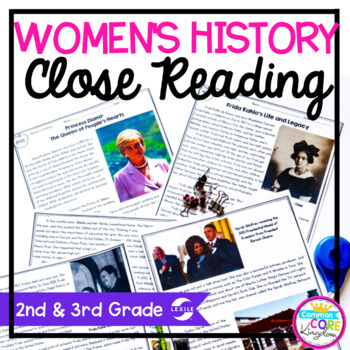 Women's History Close Reading 2nd & 3rd Grade