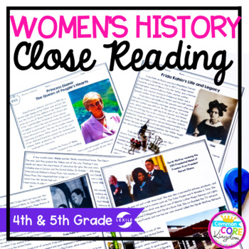 Women's History Close Reading 4th & 5th Grade
