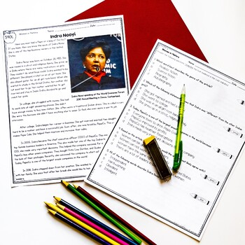 Women's History Close Reading Differentiated Bundle
