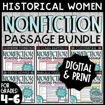 Women's History Comprehension Passage Bundle (4-5)