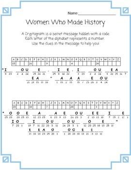Women's History Cryptograms