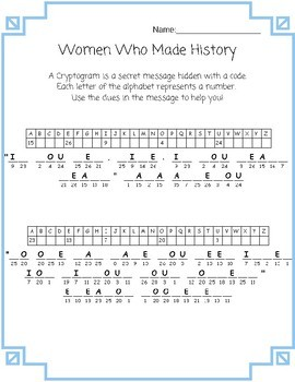 History Cryptograms Worksheets & Teaching Resources | TpT