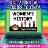 Women's History Digital Social Studies Toothy® Task Cards