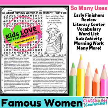 Women's History Month: Reading: Word Search