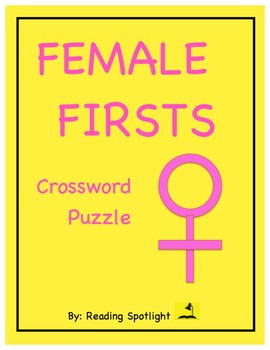 Women's History: Female Firsts Crossword Puzzle (Distance Learning)